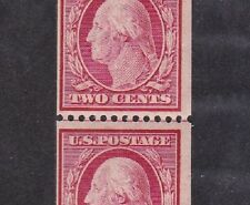 349   M OG NH STRIP  OF 4 WITH LINE PAIR, ATTRACTIVE PIECE, SEE BELOW