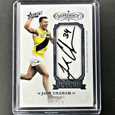 2019 Select Supremacy JACK GRAHAM Franchise Future Signature 15/70