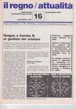 1981 09 15 - IL REGNO ATTUALITà - 15 09 1981 - N.447 - ANNO XXVI - REAGAN E BOMB