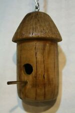 Handcrafted Cherry Wood Hummingbird House
