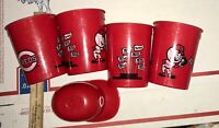 1970's Cincinnati Reds Souvenirs 4 Nu-Maid Cups 1 Small Helmet