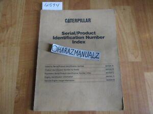 CATERPILLAR Serial / Product Indentification Number Index Manual