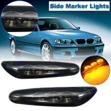 Smoke Lens LED Side Marker Lights Turn Signal Lamp For BMW E90 E91 E60 E82 E88