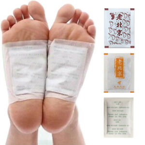 30x Anti-Swelling Ginger Foot Pads Bamboo Detox Patch Good Sleep Stress Relief
