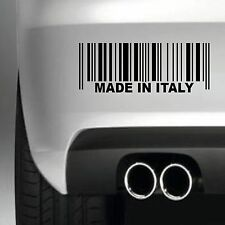 MADE IN ITALY BUMPER STICKER FUNNY CAR WINDOW PAINTWORK STICKER VINYL DECAL