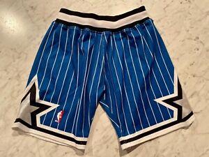 Authentic Mitchell & Ness 1992-93 Orlando Magic Game Shorts Blue Size 40 Medium