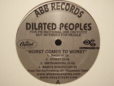 """DILATED PEOPLES - WORST COMES TO WORST / TARGET PRACTICE (12"""") 2001!!  ALCHEMIST"""