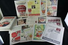 Huge Lot (48) Vintage 1920s-1970 Campbell's Soup Ads Bagged & Boarded Collection
