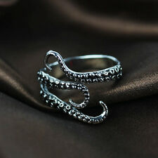 Adjustable Stainless Steel Octopus Biker Finger Rings Gothic Jewelry Gift 6-10#