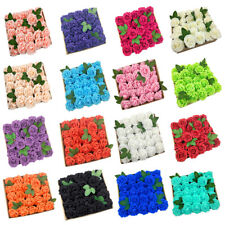 US 50pcs Artificial Flowers Real Looking Foam Rose Decoration DIY for Wedding