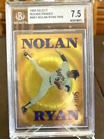 NOLAN RYAN 1993 SCORE SELECT GOLD FOIL ROOKIE TRADED CARD BGS 7.5 NEAR MINT+