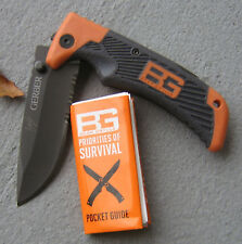 GERBER BEAR GRYLLS SURVIVAL SERIES SCOUT LOCKBACK FOLDING KNIFE w CLIP 31-000904