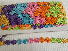 Guipure Daisy Lace Flower Bright Multi  Colours  Width Size 15mm