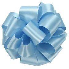"5 Yds Double Face Light Blue Satin Ribbon 1 1/2"" Wide"