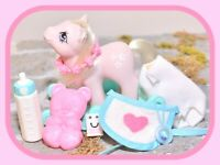 ❤️My Little Pony MLP G1 Vtg Baby Blossom Flowers Play 'n Care Accessories❤️