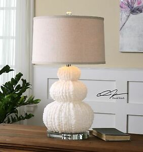"""COASTAL BEACH DECOR FONTANNE 28"""" TABLE LAMP UTTERMOST 26671 SHELL CORAL INSPIRED"""