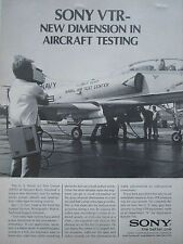 1/1970 PUB SONY VIDEO TAPE RECORDING SYSTEM A-4 NATC NAVAL AIR TEST CENTER AD