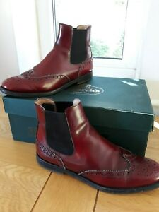 Church's Ketsby Chelsea Leather Ankle Boots Red Brogue Wingtips UK 4 EU 37 Boxed