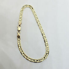 "Solid 14K Yellow Gold Anchor Link Mariner Bracelet, 7.25"", 4mm, 5.2 grams"