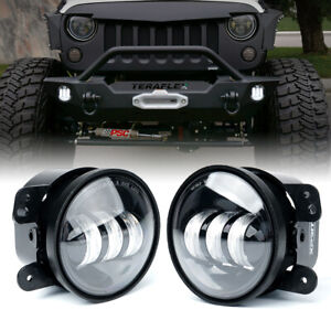 Xprite 4 Inch LED Fog Lights Front Bumper Driving for 07-18 Jeep Wrangler JK JKU