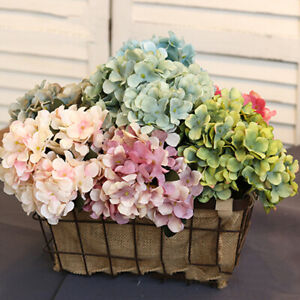 Wedding Supplies Artificial Flower Silk Hydrangea Desktop Decor Fake Bouquet