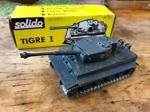 Vintage Solido - Char Tigre I - Ref 222 Diecast Military Tank w/ Original Box