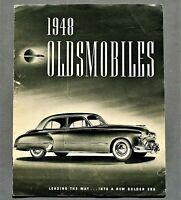"""ORIGINAL 1948 OLDSMOBILE FULL LINE BROCHURE ~ 8 PAGES ~ 11.5"""" X 9"""" ~ 48OLDS"""
