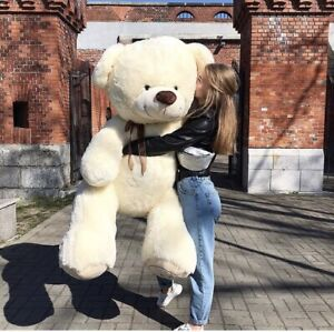 Teddy Ours en Peluche 190 CM Géant Grand XXL Ourson à Câliner Animal Cadeau
