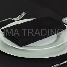 """BLACK ROUND TABLECLOTH 330cm, 130"""" Inch, 220GSM POLYESTER BLACK TABLE CLOTH"""