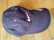 Youth Girls Nike Cap Brown Pink Kids Hat  Sports Beach Size 4T-6x small