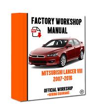 2002 2003 mitsubishi lancer evolution vii evo 7 lancer evolution viii evo 8 service repair factory manual instant download