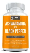 Ashwagandha Capsules With Black Pepper 1,300mg - Organic & Vegan Supplement