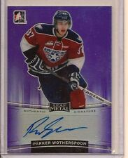 PARKER WOTHERSPOON 2014-15 IN THE GAME ITG LEAF METAL HOCKEY PURPLE CHL AUTO /15
