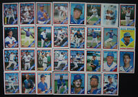 1988 Topps Chicago Cubs Team Set of 40 Baseball Cards With Traded