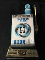 JIM BEAM DECANTER Vintage 1967 HAROLDS CLUB RENO EMPTY BOTTLE REGAL CHINA