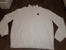 Straight Down Golf Apparel Quarter-Zip Pullover White Size XL 100% Pima Cotton