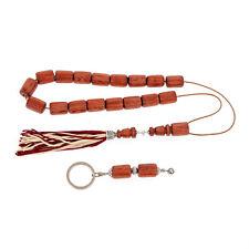 Set of Rosewood Worry Beads or Komboloi & Key Holder Ring