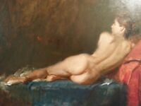 REALISTIC MASTER !!  RECLINED NUDE  by :  VICTOR  ZALDIVAR      AMAZING, INDEED