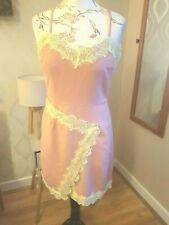 MISGUIDED Nude Mini Dress With Thin Straps & Yellow Lace Design [Size 12]