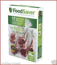 "3 - 11"" ROLLS - FoodSaver Vacuum Seal Roll - 48 FEET - Food Storage Bags *NEW*"