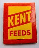 Vintage KENT FEEDS MUSCATINE IOWA Advertising Matchbook UNSTRUCK