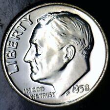 1958 GEM PROOF Roosevelt SILVER Dime SUPERB PRF Coin Lot #PQ68  NR
