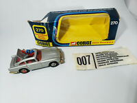 CORGI 270 JAMES BOND ASTON MARTIN DB5 MIB MISB Ejector Seat WORKS all tested