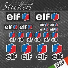Set 18 Adesivi ELF Old Logo Style Sponsor Tecnici auto moto scooter