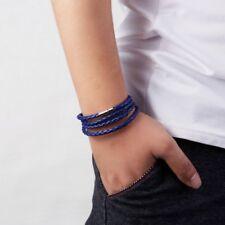 Men Punk Multi-layer Leather Bracelet Wristband Bangle Charm Jewelry Gift Party