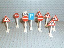 LEGO® Classic Town Zubehör 10x Straßenschilder Verkehrs Zeichen 649 14 F572