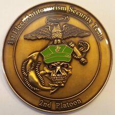1st FAST 2nd PLT Fleet Antiterrorism Security Team Marine Challenge Coin