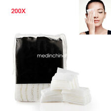 200pcs Cosmetic Makeup Remover Wipes Face Wash Cotton Pads Super Absorbent