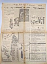 Boston Herald Page January 26 1936 Incomplete Section Page B and Page 2 Only