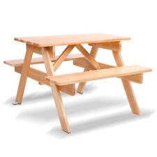 Keezi Kids Picnic Table Bench Set Children Wooden Outdoor Indoor Chair Garden
